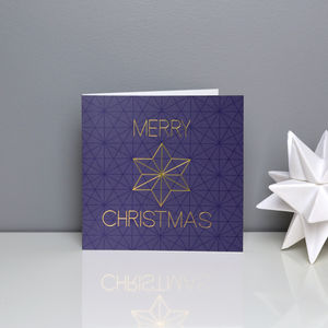 Geometric Gold Star Christmas Cards - view all gifts