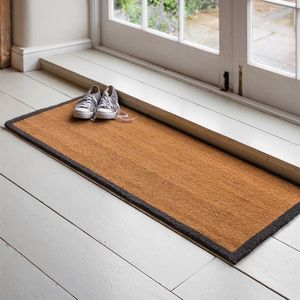 Double Natural Doormat With Border - rugs & doormats