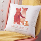 Personalised First Mother's Day Bear Family Cushion - mother's day
