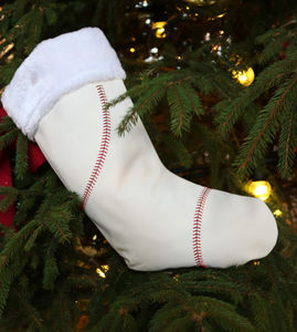 Genuine Baseball Ball Christmas Stocking