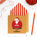 Christmas Handmade Santa Claus Dad Card Or Pack