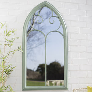 Decorative Antique Green Mirror