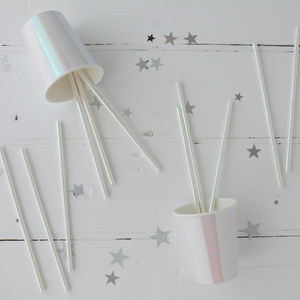 Iridescent Party Straws - baby & child