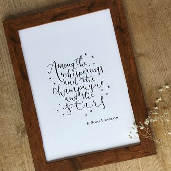 Among The Whisperings Modern Calligraphy Print