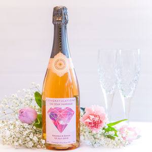 Personalised Wedding Champagne Nv Or Rose Nv - personalised wedding gifts