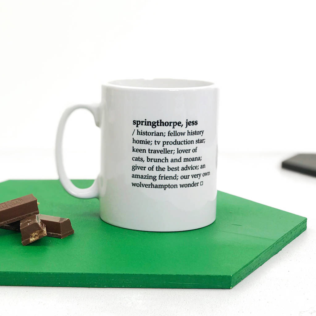 personalised dictionary definition mug by xoxo | notonthehighstreet.com