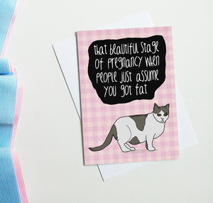 Pregnancy Card 'That Beautiful Stage Of Pregnancy' - shop by category
