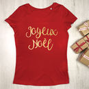 Joyeux Noel Womens Christmas T Shirt