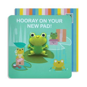 New Home Frog Jelly Magnet Cards