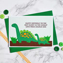 Large A5 personalised Daddy and Baby Dinosaur Birthday Card