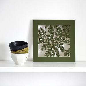 Sweet Cicely Silhouette Woodcut Picture