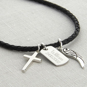Boys' Personalised Karma Dog Tag Necklace