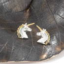 Unicorn Earrings In Sterling Silver And 18ct Gold