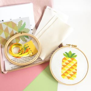 Pineapple Cross Stitch Kit - creative kits & experiences