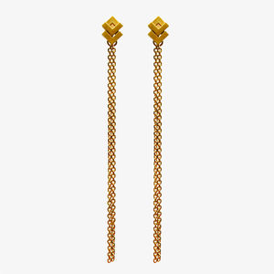 Rhythm Stud Chain Earrings - earrings