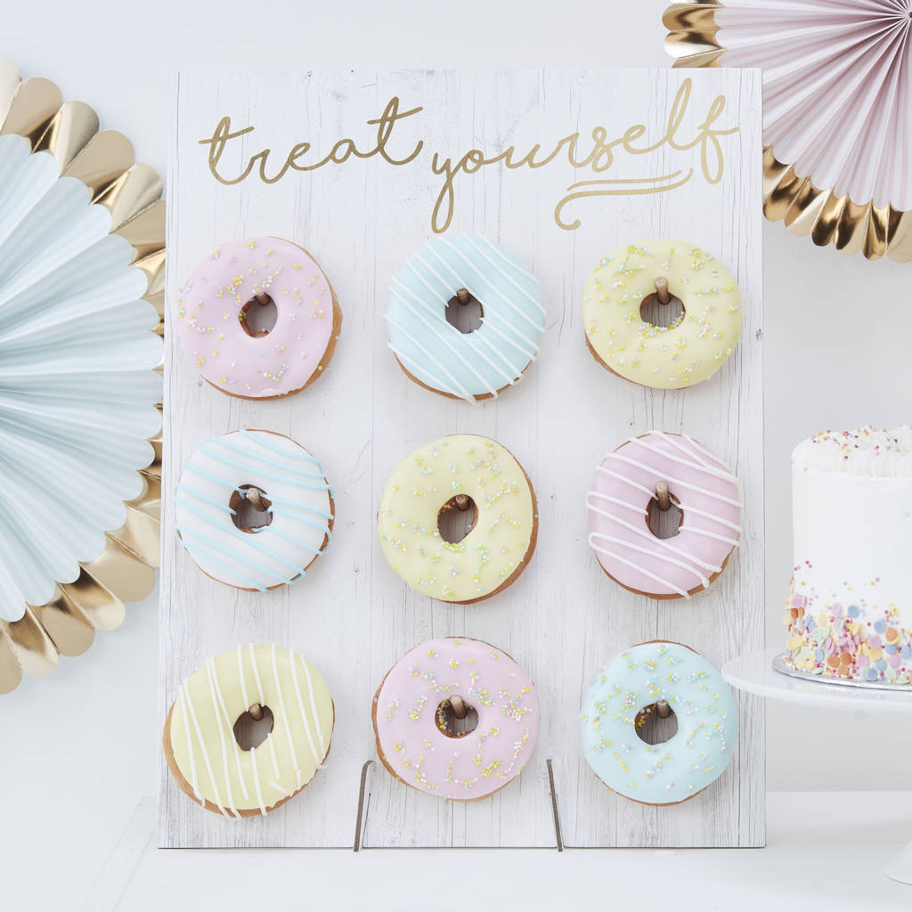 Gold Foiled Treat Yourself Donut Wall Cake Alternative by Ginger Ray