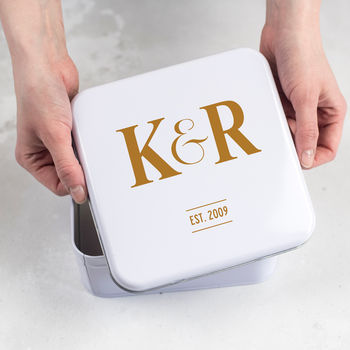 Initialled Keepsakes Tin Box