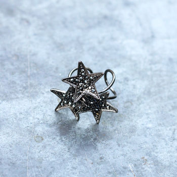 Vintage Style Sparkling Star Ring