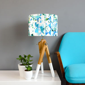 Flock Northmore Teal Fabric Lampshade