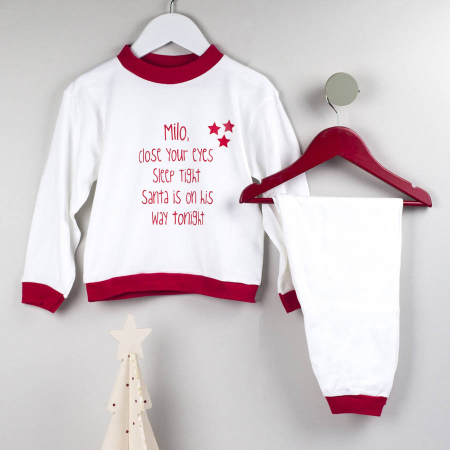 personalised christmas eve pyjamas by we are scamp ...