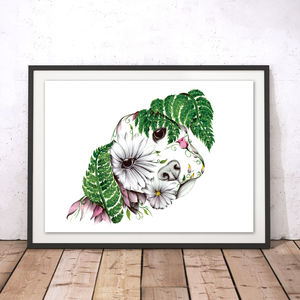 Daisy The Floral Puppy Fine Art Print