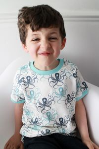 Children's T Shirt Made With Stunning Octopus Fabric - clothing