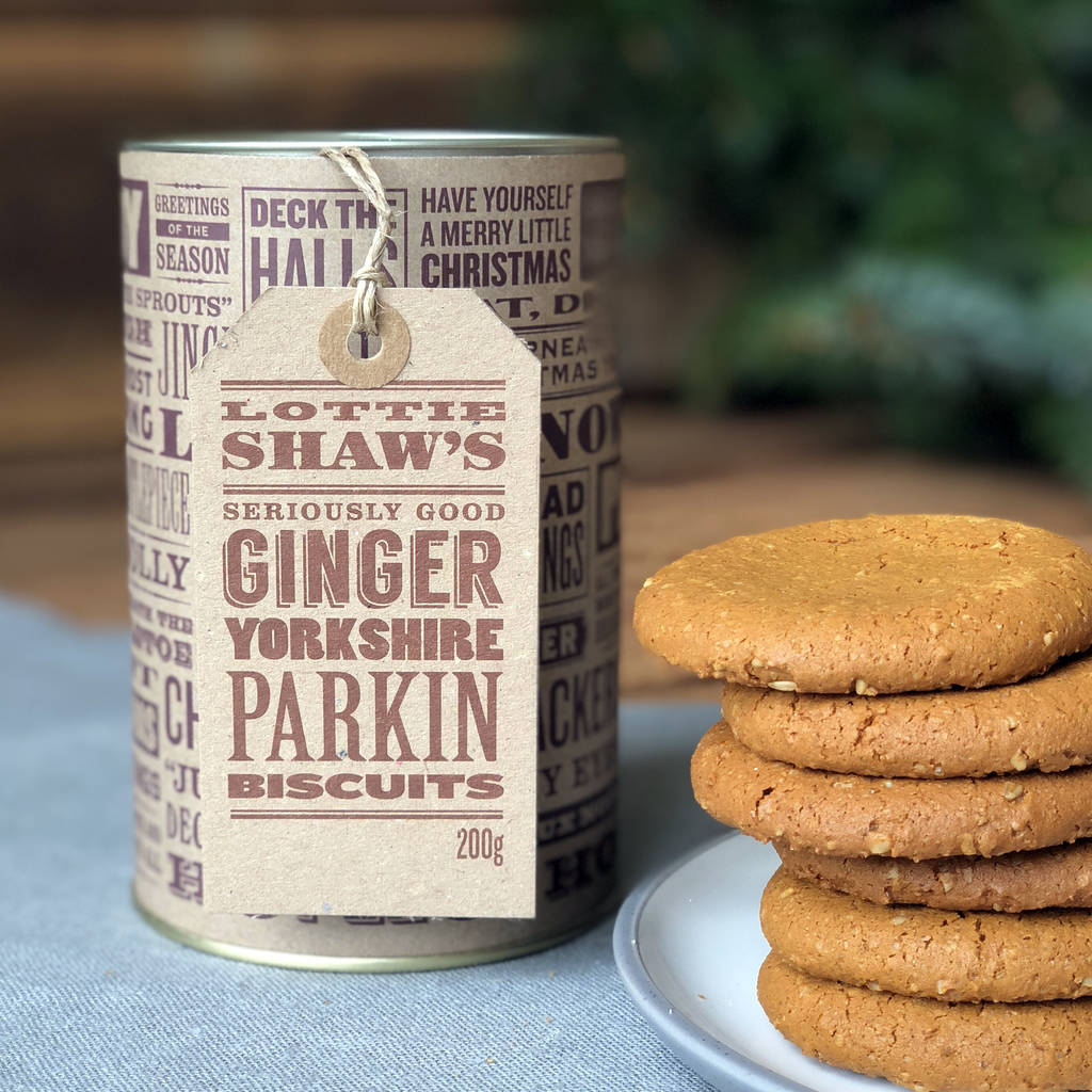 Christmas Parkin Biscuit Tube
