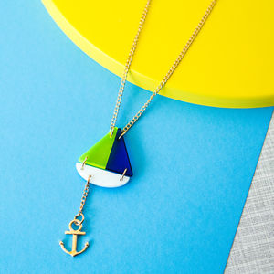 Boat And Anchor Sweet Thing Necklace - necklaces & pendants