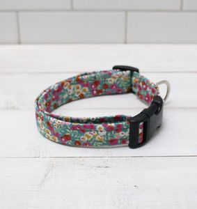 Minnie Liberty Fabric Dog Collar - dogs