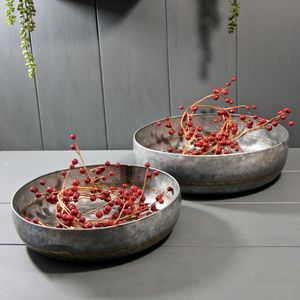 Pair Of Zinc Bowls - bowls