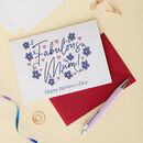 Fabulous Mum Floral Mothers Day Card