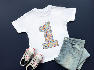1st Birthday Appliqué Top With Liberty Of London Fabric