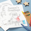 Children's Colour In Christmas Card Pack