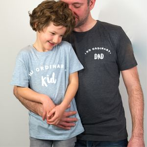 Father's Day Gift No Ordinary Dad And Kid T Shirts