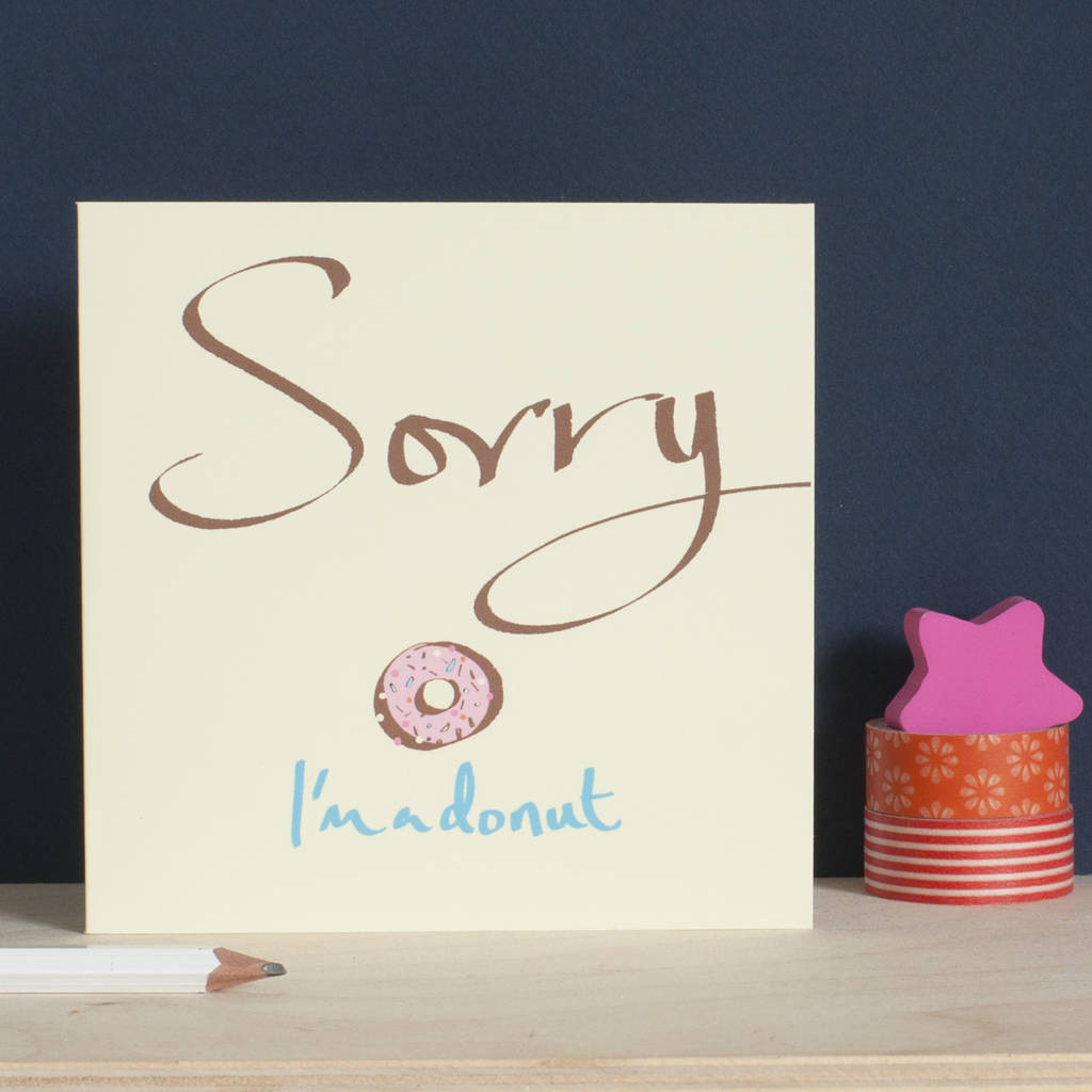 sorry i m a donut card by inkpaintpaper