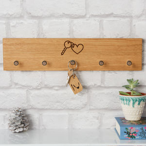 Personalised Key Rack - kitchen