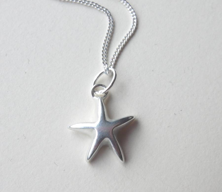 Silver star pendant and chain by anne reeves jewellery silver star pendant and chain aloadofball Image collections