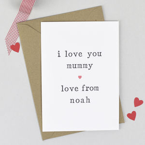 Personalised 'Love You Mummy' Birthday Card