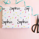 Personalised Name Confetti Wrapping Paper