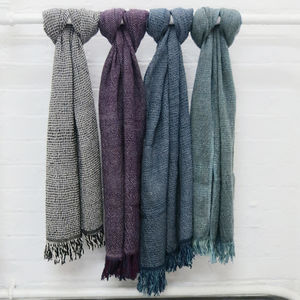 Chunky Check Woven Cotton Unisex Scarf - women's accessories