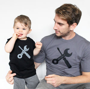 'Mr Fix It' And 'Little Helper' Tshirts - children's dad & me sets