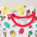 Ice Lolly Childrens T Shirt With Yellow Neckline