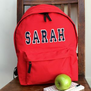 Personalised Applique Name Backpack