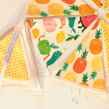 Tropical Fruit Cotton Mini Bunting