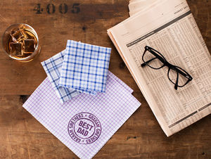 Best Dad Personalised Handkerchiefs - best father's day gifts