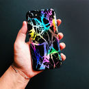 Holographic Black Marble iPhone Case