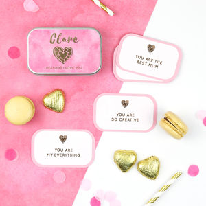 Personalised 'Reasons Why' Foiled Valentine's Gift