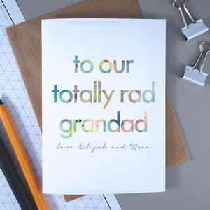 Personalised Father's Day Card For Totally Rad Grandad - birthday cards