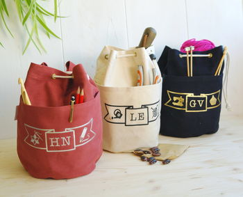 Personalised Craft Project Ditty Bag