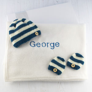 Personalised Baby Blanket Gift Set - decorative accessories